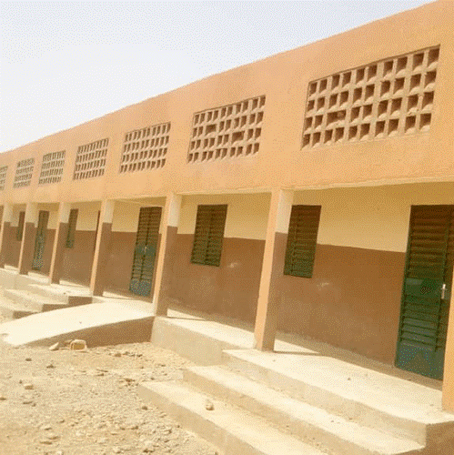 A new school for the Goulgountou village in the municipality of Falangountou, near to Essakane Solar farm. The school was completed in May 2019 and will open for the next back-to-school season in October 2020 (Falangountou, Burkina Faso, March 2020).
